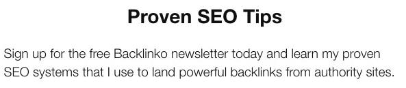Newsletter Page headline