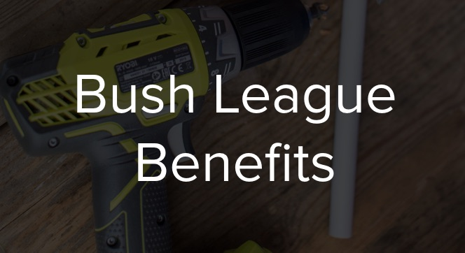 bush league benefits